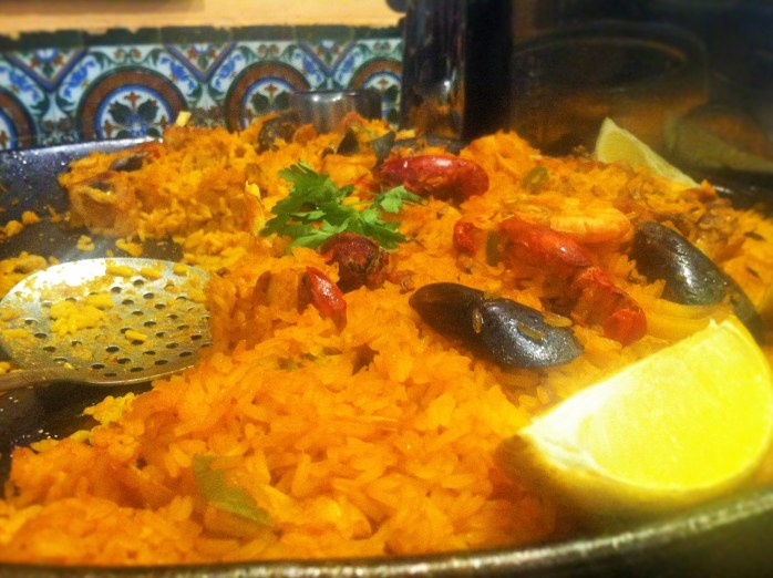 Classic Homemade Paella at Rosi La Loca Taberna. In Madrid!