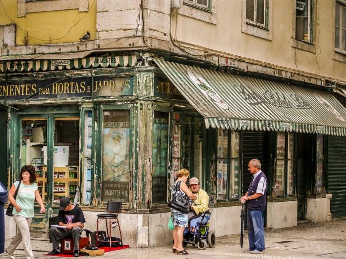 A traditional neighbourhood shop in Lisbon.