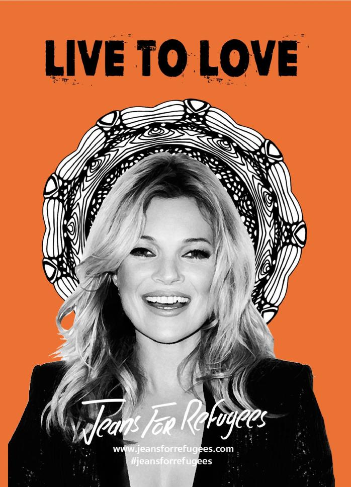 Kate Moss - Jeans for Refugees by Johny Dar.