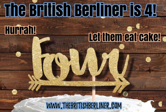 The British Berliner is 4 years old. Hurrah! Let them eat cake!