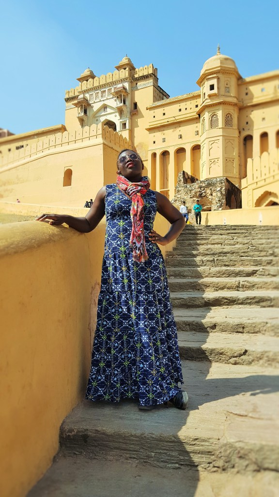 Outside the Amer Fort in Jaipur - India