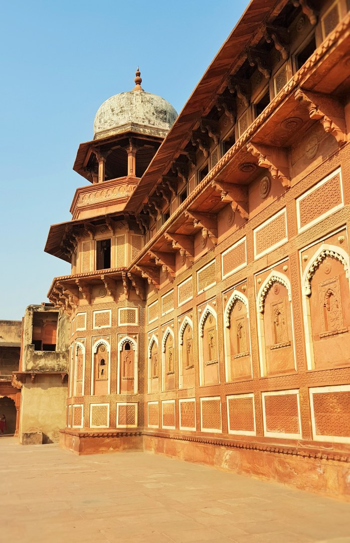 Agra Fort in Agra, Taj Mahal; Fatehpur Sikri; India; people; Indian people; tourists; tourism; crowds; sightseeing; UNESCO site
