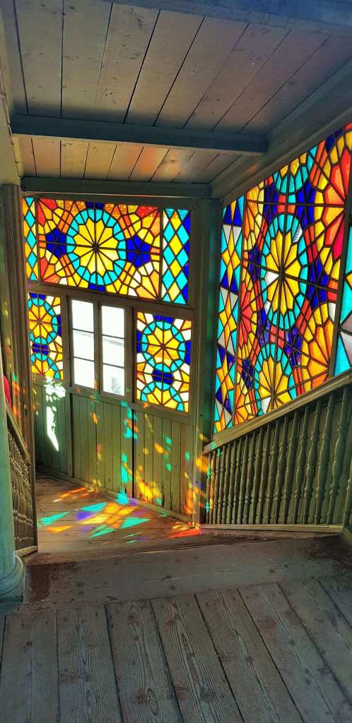 Tbilisi; Kaleidoscope House; Kaleidoscope; stained glass windows; artistic house; culture; art; City of Tbilisi; Georgia; Georgian; Caucasus; Europe; Central Asia; European; travel
