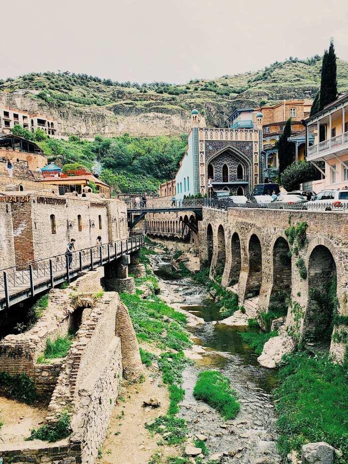 Abanotubani; Bath Quarter; Baths; spas; sulphur; sulphuric water; water; Tbilisi; Tbilisi City Hall; City of Tbilisi; Georgia; Georgian; Caucasus; Europe; European; travel;