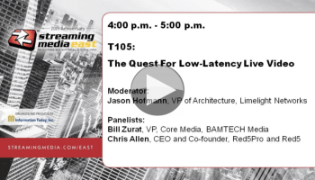 Video: Low-Latency Live OTT Streaming CMAF and the alternatives