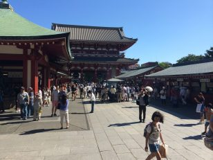 Many shops can be found after enter Sensō-ji temple area through the main gate