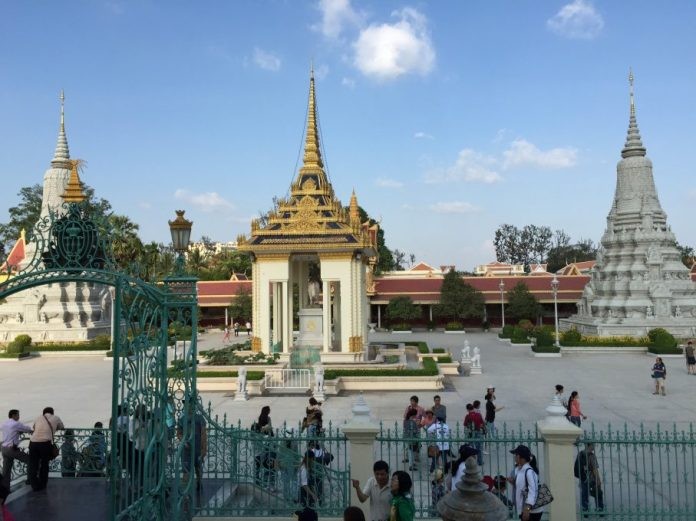 Inside the area of Royal Palace, Phnom Penh
