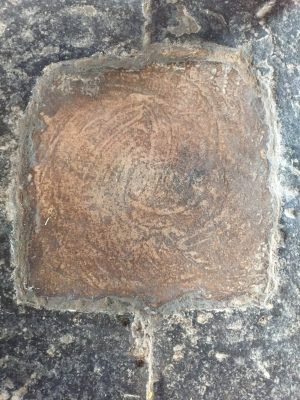 The mark shows the very center of Angkor Wat, Siem Reap