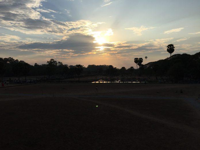 Sundown at Angkor Wat, Siem Reap