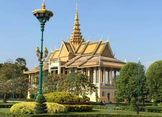 Chanchhaya Pavillion in Cambodia's Royal Palace, Phnom Penh