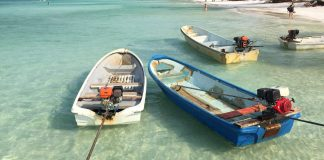 the boats at Koh Rong Samloem - The Broad Life travels Cambodia