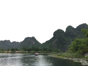 3 hours sitting in the boat and the ferryman took us around Trang An, Ninh Binh, Vietnam