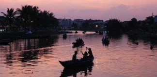 The river of Hoi An ancient town in the afternoon