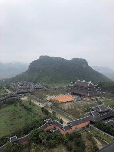 a corner of Bai Dinh pagoda at Trang An Complex