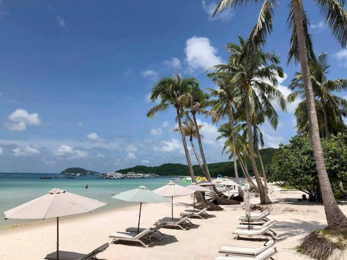 A corner of Star Beach at Phu Quoc Island, Vietnam