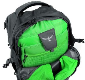 Inside Osprey Farpoint 40 Travel Backpack