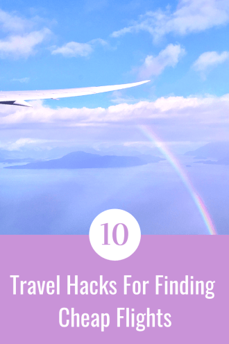Pinterest Board for 10 Travel Hacks for Finding Cheap Flights by The Broad Life