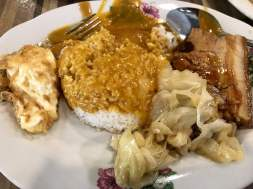 'fulfilled our stomach at Liang food court'