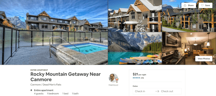 A getaway with outdoor jacuzzi/ hottub in Canada, a listing on Airbnb