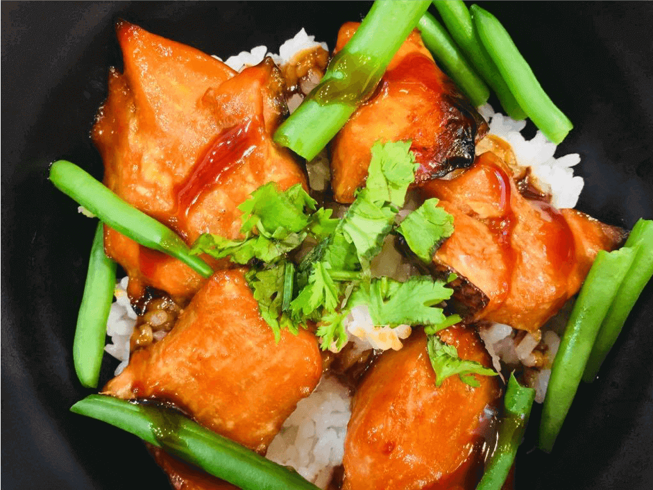 Smoked Salmon Rice Bowl