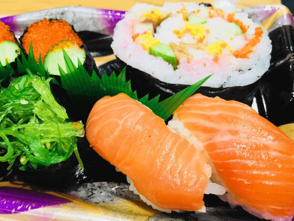 Sushi in the shopping center