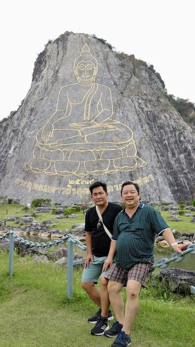 travel khao chee chan on lunar new year with family