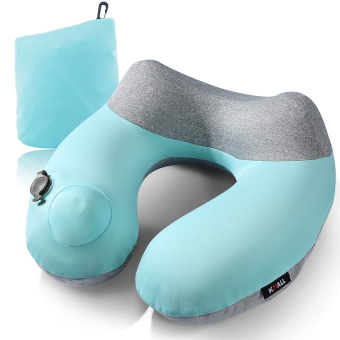 inflatable u-shaped pillow for travelers