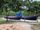 boats at refugee camp, batam island
