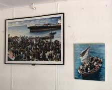 refugee historical images at ex camp vietnam, batam island. The second day of 5 days trip to Singapore, Indonesia, Malaysia