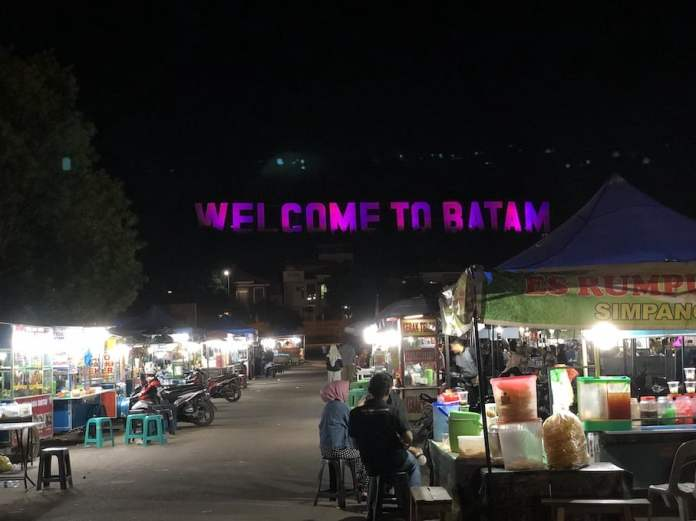 WTB, an area right in the bottom of the word 'Welcome to Batam', where many Indonesian people sell local foods