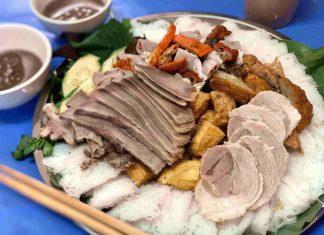 bún đậu mắm tôm cô tuyến - the broad life enjoy hanoi food
