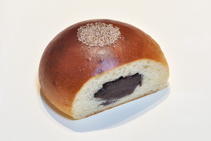 An-pan, a Japanese cuisine's bread with read bean paste inside