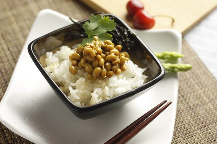 Natto, a fermented soybeans dish, is a very challenging Japanese cuisine