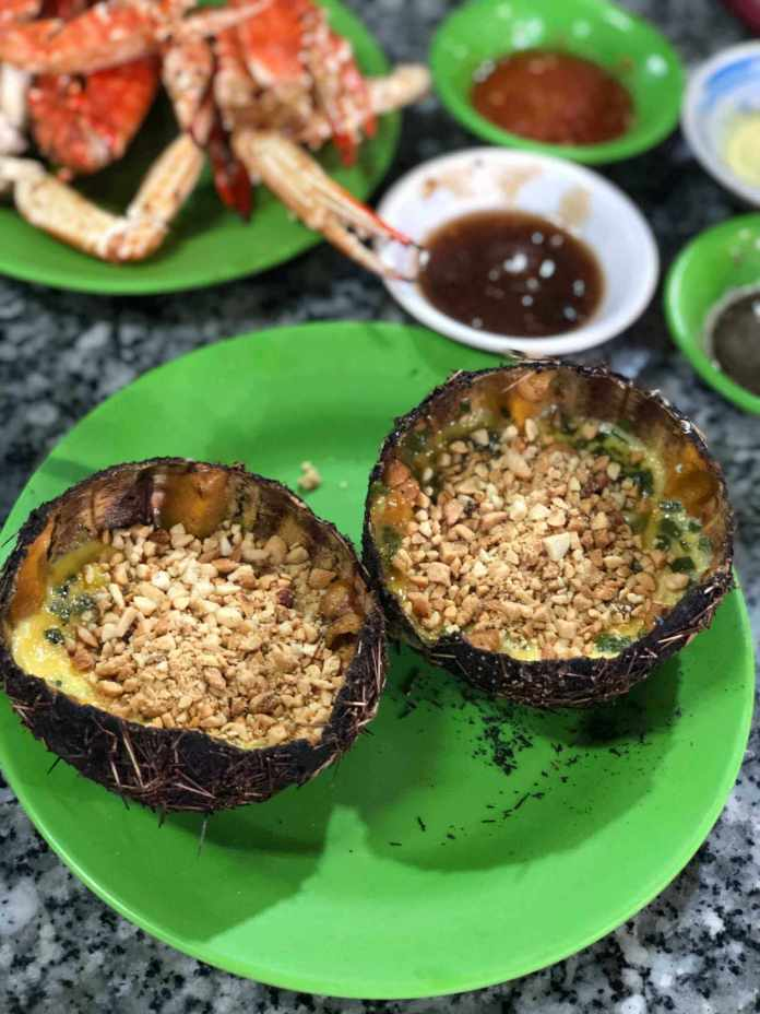 sea urchin, a seafood that can be found a lot in Nha Trang