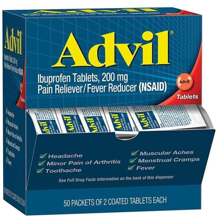 travel medicine to treat migraine, headache, flu, or fever