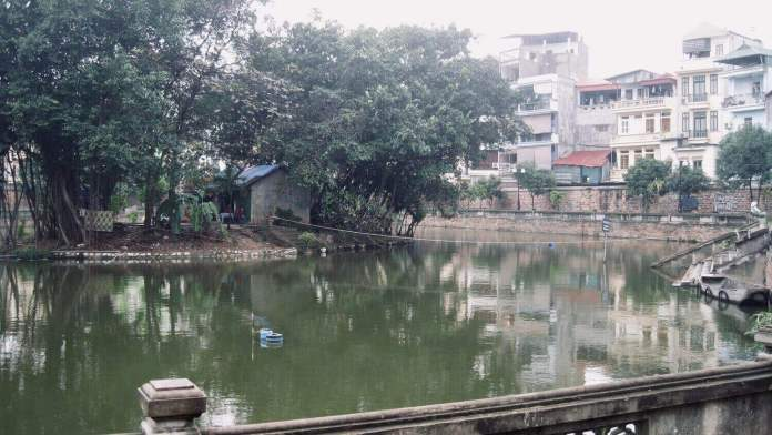 Literature Lake with Kim Chau mound in the middle