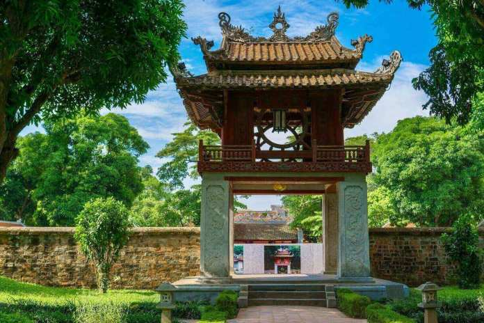 Constellation of Literature pavilion at the Temple of Literature Hanoi, one of the most well-known Vietnam temples