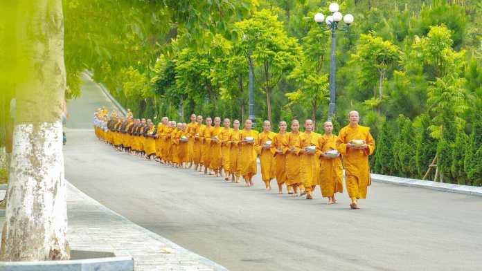 Monks at Ba Vang Pagoda