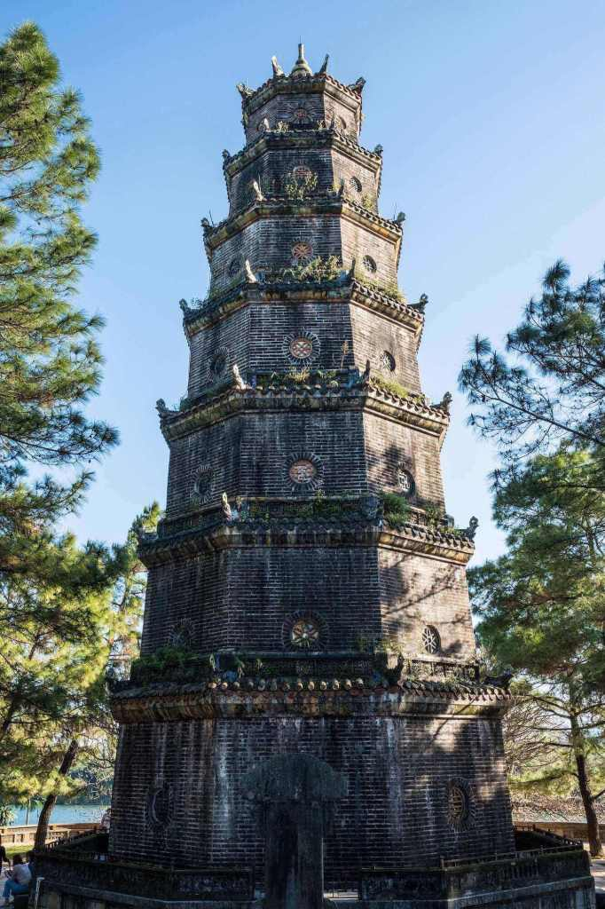 Phuoc Duyen Tower at Thien Mu Pagoda, one of the ancient Vietnam temples