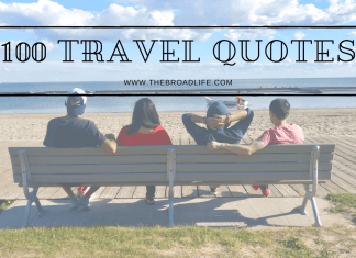 The Broad Life's inspirational travel quotes