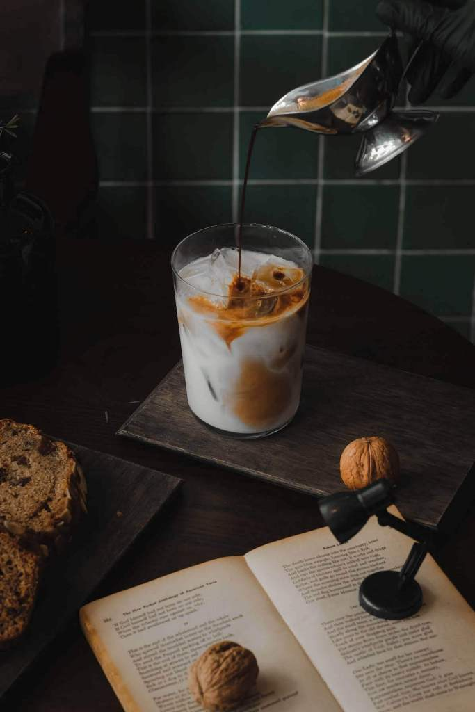 The signature Iced Latte of the coffee shop.