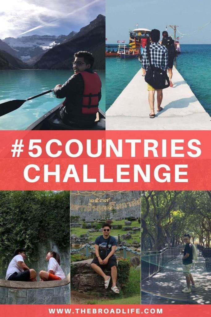 5 countries challenge - the broad life's pinterest board