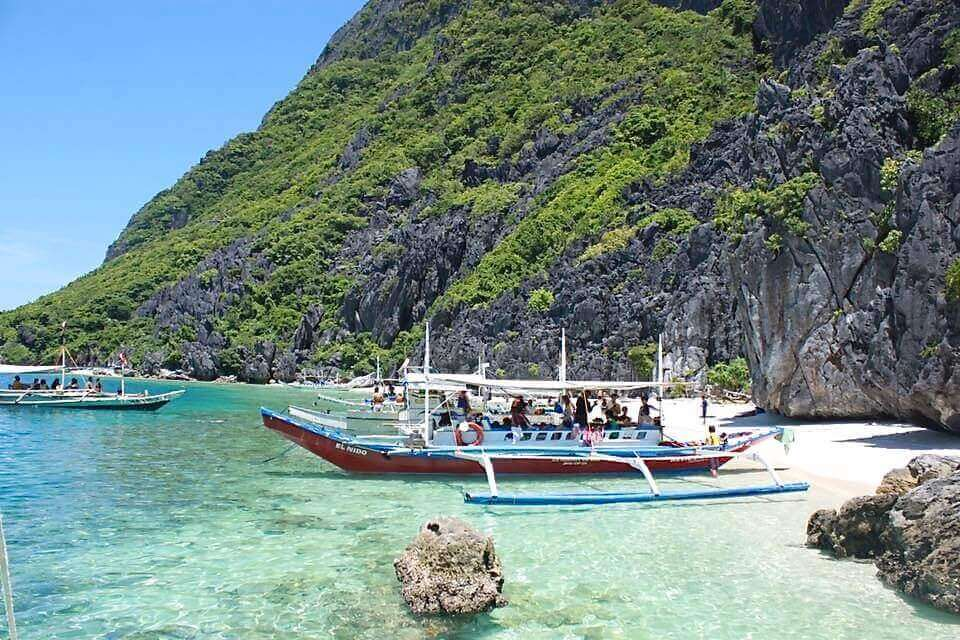 A ship carrying visitors in El Nido, Philippines