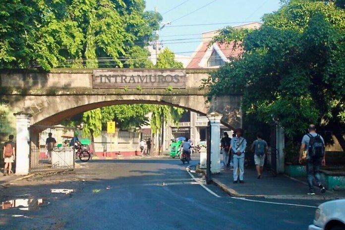 The gate of Intramuros Citadel, visited in Philippines 7 days itinerary