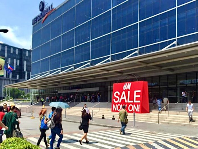A megamall in Manila, Philippines