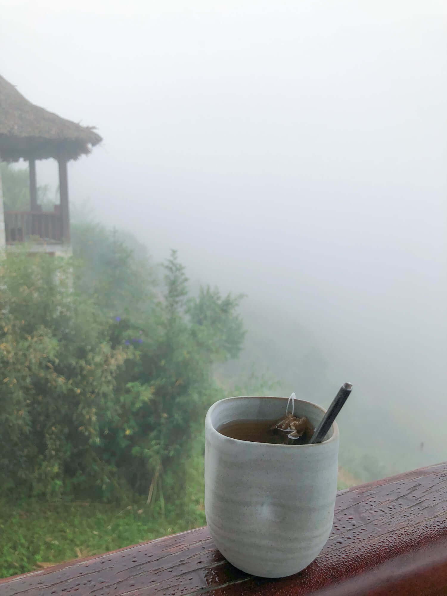enjoy morning coffee in topas ecolodge