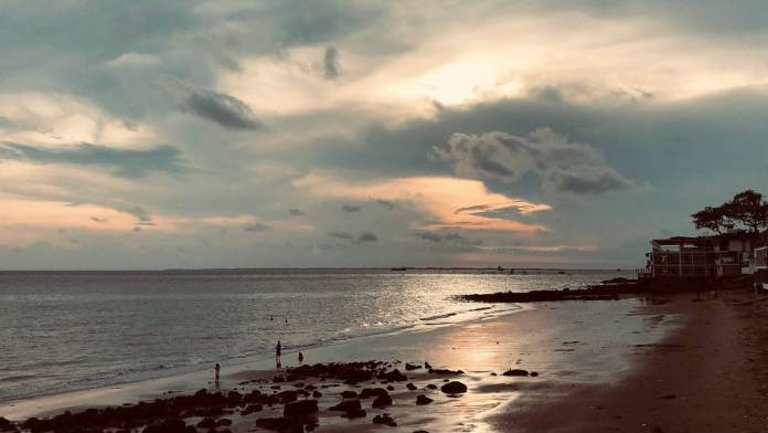 Vung Tau beach in the afternoon