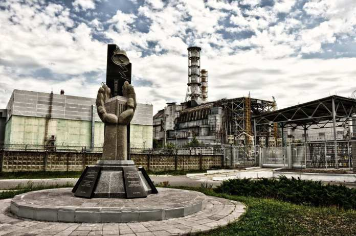 the old factories in Chernobyl zone