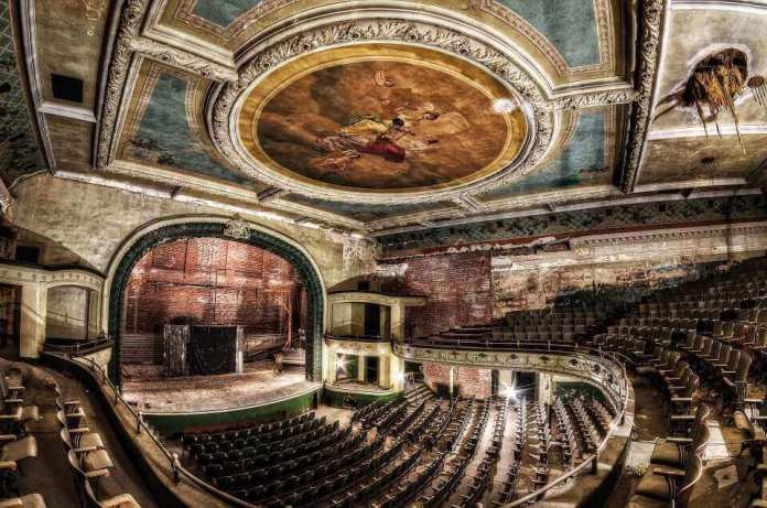 abandoned Orpheum Theatre at New Bedford