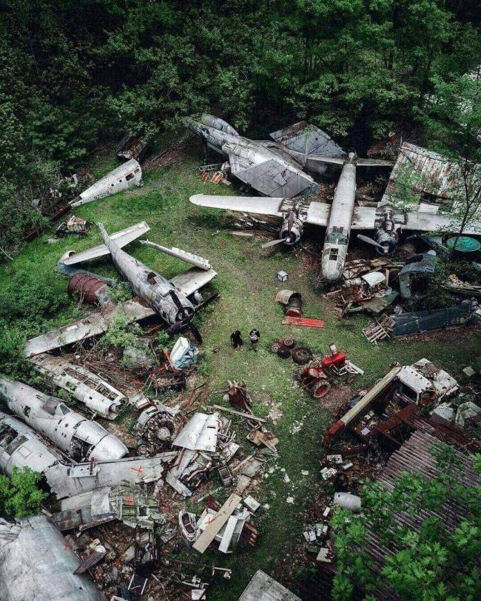 The Soplata Airplane Sanctuary, an abandoned place in Newbury, Ohio
